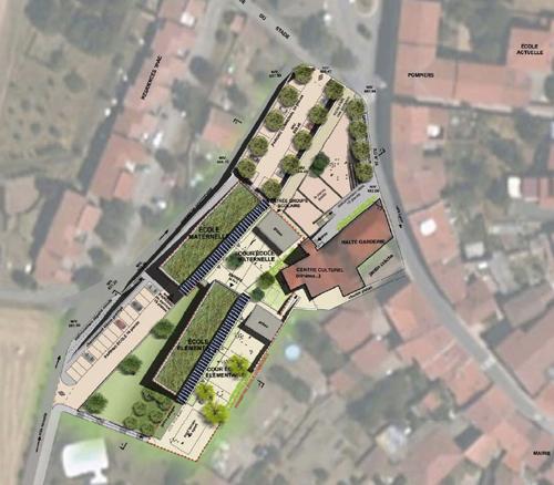 Qualit environnementale d une future cole montrottier for Plan masse architecture